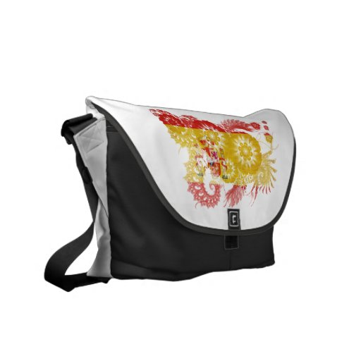 Spain Flag Courier Bags