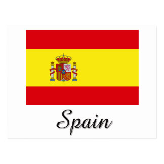 Spain Flag Design Postcard
