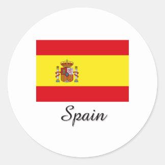 Spain Flag Design Round Sticker