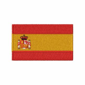 Spain flag embroidered men's t-shirt