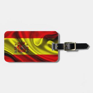 Spain Flag Fabric Bag Tag