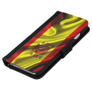 Spain Flag Fabric Wallet Phone Case For iPhone 6/6s