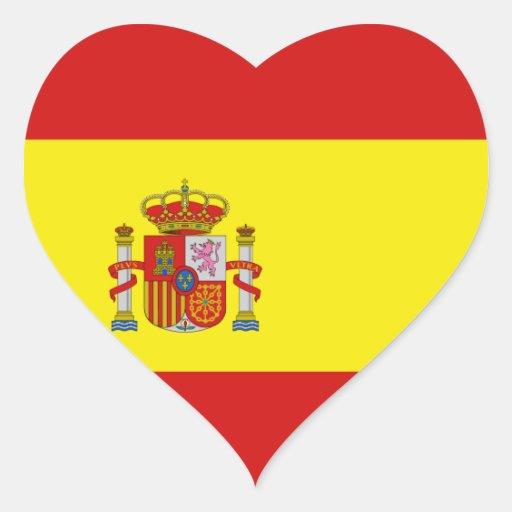 Spain Flag Heart Sticker  Zazzle