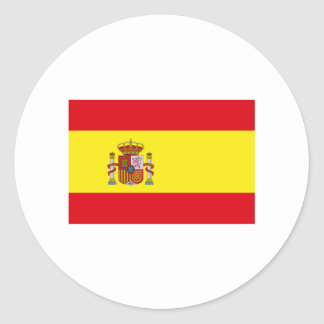 Spain FLAG International Classic Round Sticker
