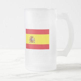 Spain FLAG International Frosted Glass Beer Mug
