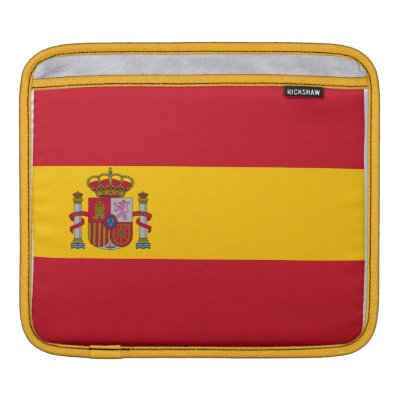 Spain Flag Ipad/Laptop Rickshaw Sleeve Sleeve For iPads