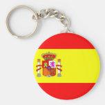 Spain flag key chains