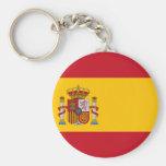 Spain flag keychains