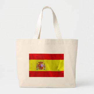Spain Flag Large Tote Bag