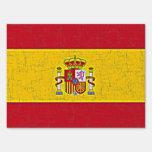 SPAIN FLAG LAWN SIGN