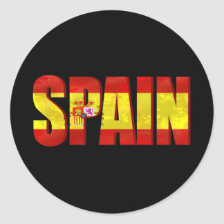 Spain flag logo emblem for proud Spaniards Classic Round Sticker