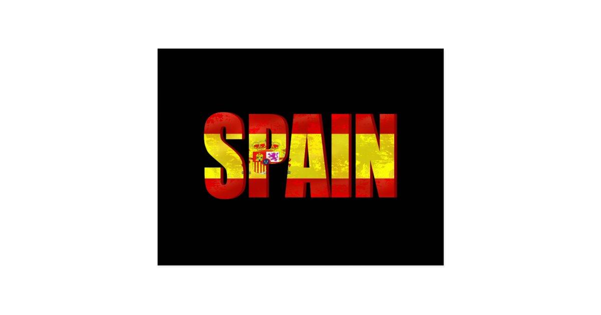 Spain flag logo emblem for proud Spaniards Postcard | Zazzle.com