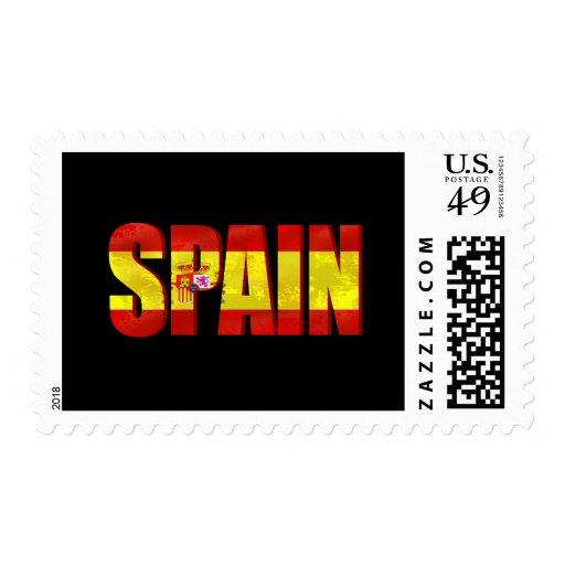 Spain flag logo emblem for proud Spaniards Stamps
