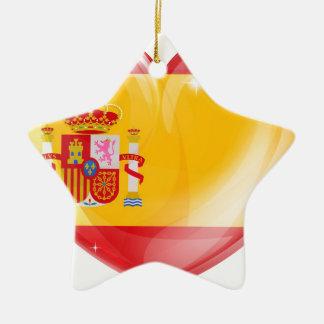 Spain flag love heart christmas ornament