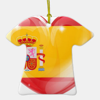 Spain flag love heart christmas ornaments