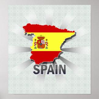 Spain Flag Map 2.0 Poster
