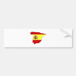 Spain Flag Map full size Bumper Sticker