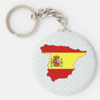 Spain Flag Map full size Keychain