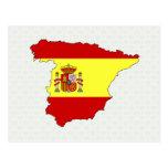 Spain Flag Map full size Postcard