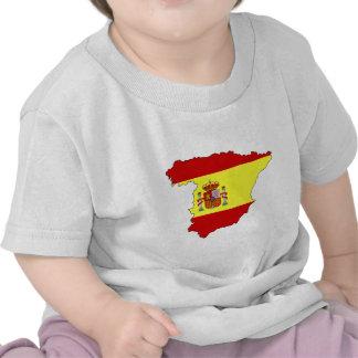 Spain flag map shirt
