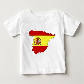 Spain flag map infant t-shirt