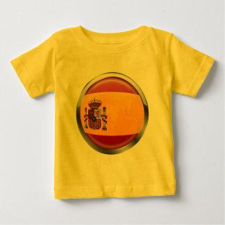 Spain flag Modern emblem badge for proud Spaniards Baby T-Shirt