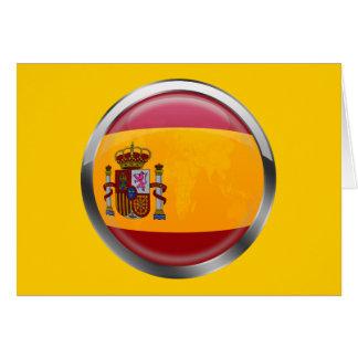 Spain flag Modern emblem badge for proud Spaniards Card