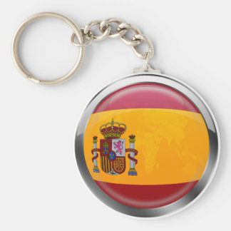 Spain flag Modern emblem badge for proud Spaniards Key Chain