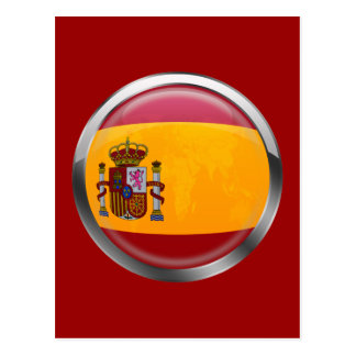 Spain flag Modern emblem badge for proud Spaniards Postcard