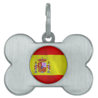 Spain Flag Pet Tag