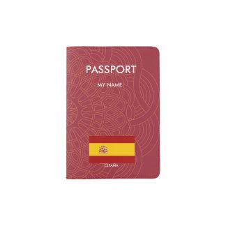 Spain flag quality passport holder