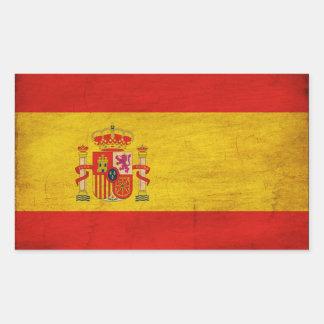 Spain Flag Rectangular Sticker