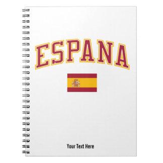 Spain + Flag Spiral Notebook