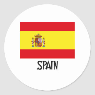 Spain Flag Round Sticker
