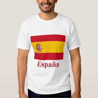 Spain Flag with Name in Spanish T-shirt