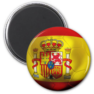 Spain Football 2 Inch Round Magnet