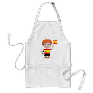 Spain football adult apron