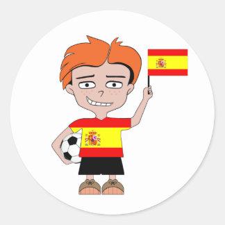 Spain football classic round sticker