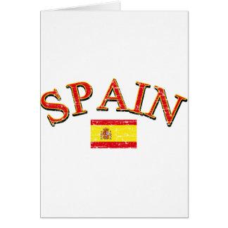 Spain football design card