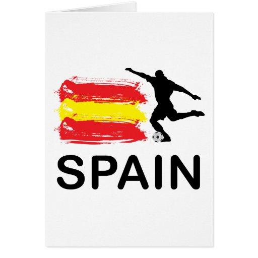 Spain Football Greeting Card