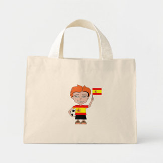 Spain football mini tote bag