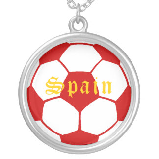 Spain football necklaces