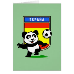 Greeting Card with Spanish Football Panda design