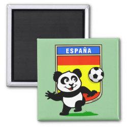 Square Magnet with Spanish Football Panda design