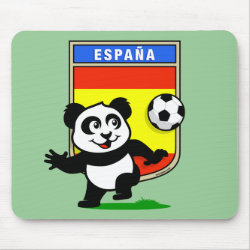 Mousepad with Spanish Football Panda design