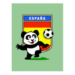 Postcard with Spanish Football Panda design