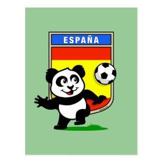 Spain Football Panda Postcard