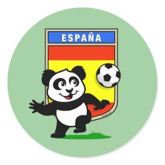 Spain Football Panda sticker