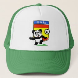 Trucker Hat with Spanish Football Panda design