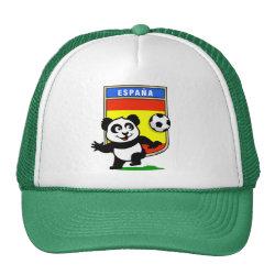 Trucker Hat with Spanish Football Panda design
